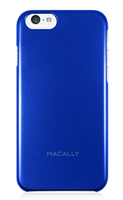 Macally SNAPP6MBL Cover Blu custodia per cellulare