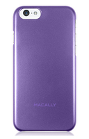 Macally SNAPP6MPU Cover Metallico, Porpora custodia per cellulare