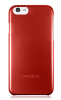 Macally SNAPP6MR Cover Metallico, Rosso custodia per cellulare