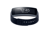 "Samsung Gear Fit Wristband activity tracker 1.84"" SAMOLED Senza fili IP67 Nero"