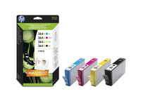HP 364XL 4-pack High Yield Black/Cyan/Magenta/Yellow Original Ink Cartridges 6ml 18ml 550pagine 750pagine Nero, Ciano, Giallo cartuccia d