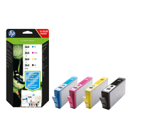 HP 364 Combo Value Pack 3ml 6ml 250pagine 300pagine Nero, Ciano, Giallo cartuccia d
