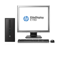 HP ProDesk 600 G1 MT + EliteDisplay E190i 3.3GHz i5-4590 Microtorre Beige PC