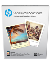 HP Social Media Snapshots Removable Sticky Photo Paper-25 sht/4 x 5 in carta inkjet