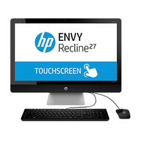 "HP ENVY Recline 27-k310nt 2.7GHz i7-4790T 27"" 1920 x 1080Pixel Touch screen Nero, Argento PC All-in-one"
