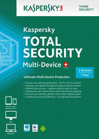 Kaspersky Lab Total Security Multi-Device Full license 3utente(i) 1anno/i Tedesca, Francese