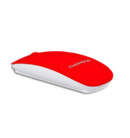 Thomson TH-MOUSEBT01RD Bluetooth 1600DPI Ambidestro Rosso, Bianco mouse