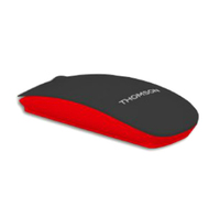 Thomson TH-MOUSEBT01BK Bluetooth 1600DPI Ambidestro Nero, Rosso mouse