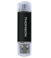 Thomson Dual 32GB 32GB USB 2.0 Tipo-A Nero, Grigio unità flash USB