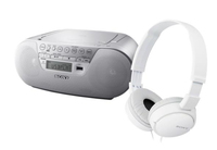 Sony ZS-PS30CP + MDR-ZX110 2W Bianco radio CD