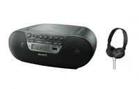 Sony ZS-PS30CP + MDR-ZX110 2W Nero radio CD