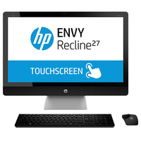 "HP ENVY 27-k470nf 2GHz i5-4590T 27"" 1920 x 1080Pixel Touch screen Nero, Argento PC All-in-one"