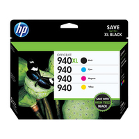 HP 940XL High Yield Black/940 Cyan/Magenta/Yellow 4-pack Original Ink Cartridges cartuccia d