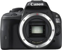 Canon EOS 100D + EF-S 18-55mm f/3.5-5.6 IS STM + EF 75-300mm f/4-5.6 III Kit fotocamere SLR 18MP CMOS 5184 x 3456Pixel Nero