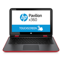 "HP Pavilion x360 13-a040nw 2GHz A8-6410 13.3"" 1366 x 768Pixel Touch screen Rosso Ibrido (2 in 1)"