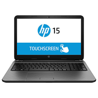 "HP 15-r202na 2.16GHz N3540 15.6"" 1366 x 768Pixel Touch screen Argento Computer portatile"