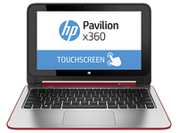 "HP Pavilion x360 11-n006ns 2.16GHz N2840 11.6"" 1366 x 768Pixel Touch screen Rosso, Argento Ibrido (2 in 1)"