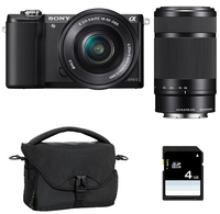 Sony a5000 + 16-50mm + 55 - 210mm MILC 20.1MP CMOS 5456 x 3632Pixel Nero