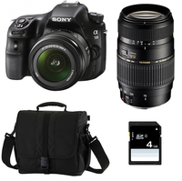 Sony a58 + 18 - 55mm + Tamron 70 - 300mm Kit fotocamere SLR 20.1MP CMOS 5456 x 3632Pixel Nero