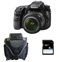 Sony a58 + 18-55mm Kit fotocamere SLR 20.1MP CMOS 5456 x 3632Pixel Nero