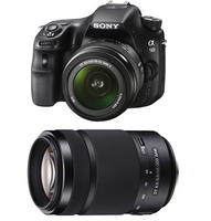 Sony a58 + 18 - 55mm + Tamron 55 - 300mm Kit fotocamere SLR 20.1MP CMOS 5456 x 3632Pixel Nero