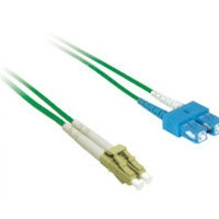 C2G 10m LC/SC Plenum-Rated 9/125 Duplex Single-Mode Fiber Patch Cable 10m Verde cavo a fibre ottiche