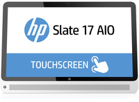 "HP Slate 17-l005nb 1.58GHz N2807 17.3"" 1920 x 1080Pixel Touch screen Nero, Argento PC All-in-one"