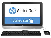 "HP 22-2107nb 3.1GHz i3-4160T 21.5"" 1920 x 1080Pixel Touch screen Nero, Argento PC All-in-one"