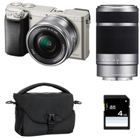 Sony a6000 + 16-50mm + 55-210mm MILC 24.3MP CMOS 6000 x 4000Pixel Argento