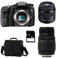 Sony a77 II + 18 - 55mm + Sigma 70 - 300mm Kit fotocamere SLR 24.3MP CMOS 6000 x 4000Pixel Nero