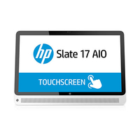 "HP Slate 17-l011nz 1.58GHz N2807 17.3"" 1920 x 1080Pixel Touch screen Nero, Bianco PC All-in-one"