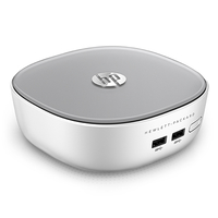 HP Pavilion 300-015d 1.9GHz i3-4025U Mini Tower Argento, Bianco Mini PC