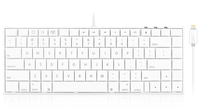 Macally IKEYLTII Lightning QWERTY Inglese Bianco tastiera