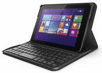 "HP Pro Tablet 408 Bluetooth Keyboard Case 8"" Custodia a libro Nero, Grafite"