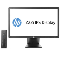 HP ProDesk DESKTOP BUNDEL (J7C45ET+D7Q14AT) 600 SFF Core i3-4160 + Z22i monitor 3.6GHz i3-4160 SFF Nero PC