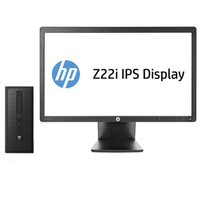 HP ProDesk DESKTOP BUNDEL (J7C46ET+D7Q14AT) 600 TWR Core i3-4130 + Z22i monitor 3.6GHz i3-4160 Microtorre Nero PC
