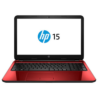 "HP 15-r255nc 2.16GHz N3540 15.6"" 1366 x 768Pixel Nero, Rosso Computer portatile"