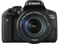 Canon EOS 750D + EF-S 18-135mm Kit fotocamere SLR 24.2MP CMOS 6000 x 4000Pixel Nero