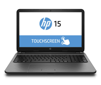 "HP TouchSmart 15-g220ca 2GHz A6-5200 15.6"" 1366 x 768Pixel Touch screen Nero Computer portatile"
