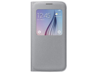 Samsung S View Cover Canvas Cover Argento