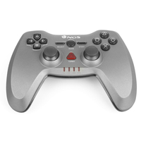 NGS Maverick RF Gamepad PC,Playstation 3 Rosso, Argento