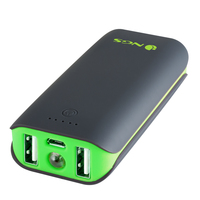 NGS PowerPump 4400 Duo Ioni di Litio 4400mAh Nero, Verde batteria portatile