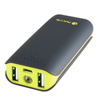 NGS PowerPump 4400 Duo Ioni di Litio 4400mAh Nero, Giallo batteria portatile