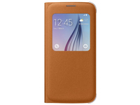 Samsung S View Cover Canvas Cover Arancione