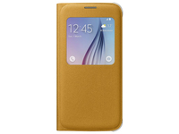 Samsung S View Cover Canvas Cover Giallo