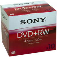 Sony 10 x DVD+ReWritable 10DPW120A 4.7GB