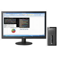 HP ProDesk DESKTOP BUNDEL (K8K69EA+K0Q34AA) 400 MT Intel Core i3 + V241p monitor 3.6GHz i3-4160 Microtorre Nero PC