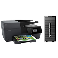 HP ProDesk DESKTOP BUNDEL (K8K69EA+E3E02A) 400 MT Intel Core i3 + OJ6830 printer 3.6GHz i3-4160 Microtorre Nero PC