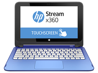 "HP Stream x360 11-p010nt 2.16GHz N2840 11.6"" 1366 x 768Pixel Touch screen Blu Ibrido (2 in 1)"