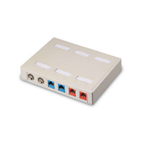C2G Keystone Surface Mount Box 12-Port Ivory Avorio divisore di rete
